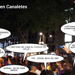 Celebración en Canaletes