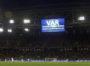 18 de Junio del 2017/MOSCU  Pantallas del estadio anuncia el VAR con el que se anulo el gol de Eduardo Vargas durante el Primer partido por la Copa Confederaciones, disputado entre las Selecciones de Chile vs Camerun, jugado en el estadio Arena Spartak en la ciudad de Moscu.  FOTO: RODRIGO SAENZ/AGENCIAUNO