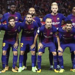 GIRONA, 23-09-2017. LaLiga 2017/ 2018, date 6. Girona FC 0-3 FC Barcelona Barca FC Barcelona team group Mannschaftsbild Totale Girona - Barcelona PUBLICATIONxNOTxINxNED x1732457x