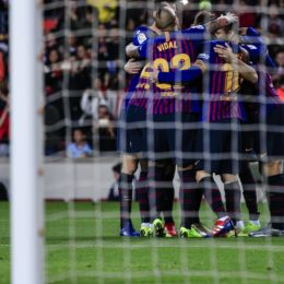 December 22, 2018 - Barcelona, Spain - FC Barcelona team celebrating 11 Ousmane Dembl of FC Barcelona goal during the Spanish championship La Liga football match between FC Barcelona and Celta de Vigo on December 22, 2018 at Camp Nou stadium in Barcelona, Spain. (Credit Image: © Xavier Bonilla/NurPhoto via ZUMA Press)