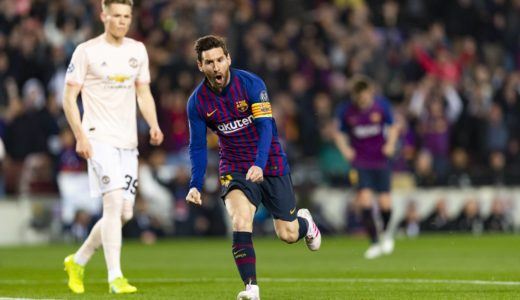 16.04.2019, xslx, Fussball Champions League, FC Barcelona Barca - Manchester United ManU FC emspor, v.l. Lionel Messi (FC Barcelona) Jubelt nach den Tor zum 1-0 (DFL/DFB REGULATIONS PROHIBIT ANY USE OF PHOTOGRAPHS as IMAGE SEQUENCES and/or QUASI-VIDEO) Barcelona *** 16 04 2019 xslx Football Champions League FC Barcelona Manchester United FC emspor v l Lionel Messi FC Barcelona Cheers after the goal to 1 0 DFL DFL REGULATIONS PROHIBIT ANY USE OF PHOTOGRAPHS as IMAGE SEQUENCES and or QUASI VIDEO Barcelona
