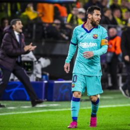 GER, Champions League, Gruppenphase, Borussia Dortmund vs FC Barcelona, Barca / 17.09.2019, Signal Iduna Park, Dortmund , GER, Champions League, Gruppenphase, Borussia Dortmund vs FC Barcelona, UEFA REGULATIONS PROHIBIT ANY USE OF PHOTOGRAPHS AS IMAGE SEQUENCES AND/OR QUASI-VIDEO im Bild picture shows: Lionel Messi (FC Barcelona 10), *** GER, Champions League, Group Phase, Borussia Dortmund vs. FC Barcelona 17 09 2019, Signal Iduna Park, Dortmund , GER, Champions League, Group Phase, Borussia Dortmund vs. FC Barcelona, UEFA REGULATIONS PROHIBIT ANY USE OF PHOTOGRAPHS AS IMAGE SEQUENCES AND OR QUASI VIDEO in picture shows Lionel Messi FC Barcelona 10 , nordphotox/xRauch nph00251