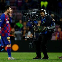 GRAF3405. BARCELONA, 05/11/2019.- El delantero argentino del Barcelona, Lionel Messi, durante el partido ante el Slavia de Praga, de la fase de grupos de la Liga de Campeones que se disputa este martes en el Camp Nou. EFE/ Enric Fontcuberta.
