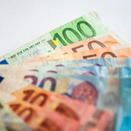 July 30, 2018 - Naples, Italy - Still Life Euro bills in Naples, Italy July 30,2018